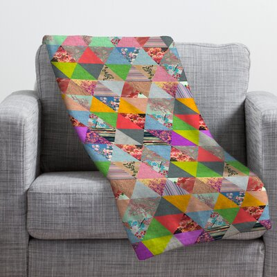 Bianca Green Lost in Pyramid Throw Blanket Size: Large