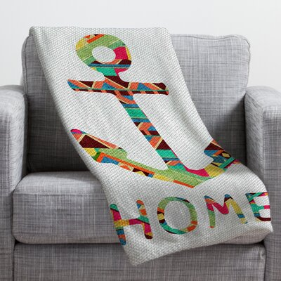 Bianca Green You Make Me Home Throw Blanket Size: Large