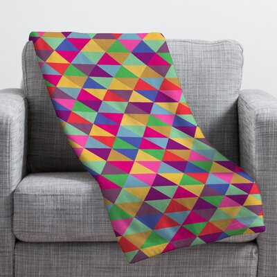 Bianca Green in Love with Triangles Throw Blanket Size: Small