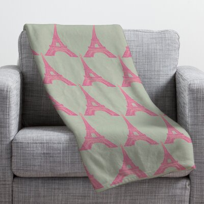 Bianca Green Oui Oui Throw Blanket Size: Small