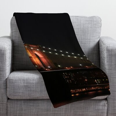 Leonidas Oxby Brooklyn Bridge 2 Throw Blanket Size: Small