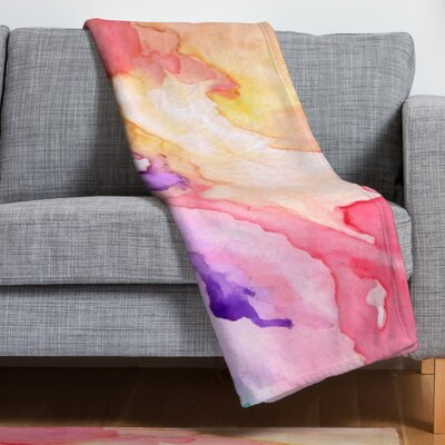 Rosie Brown Color My World Throw Blanket Size: 40 H x 30 W