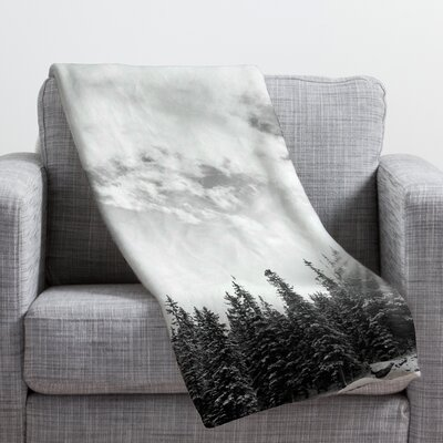 Bird Wanna Whistle White Mountain Throw Blanket Size: Large