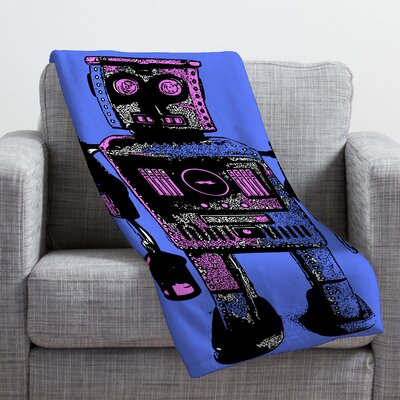 Romi Vega Lantern Robot Throw Blanket Size: Large