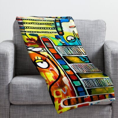 Robin Faye Gates Musical Chairs Throw Blanket Size: Small