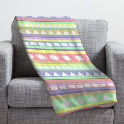 Romi Vega Pastel Pattern Throw Blanket Size: Small