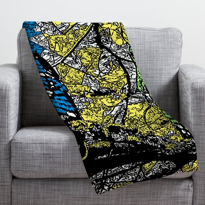 Romi Vega Bright Owl Throw Blanket Size: Large