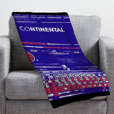 Romi Vega Continental Typewriter Throw Blanket Size: Small