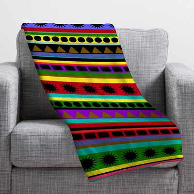 Romi Vega Heavy Pattern Throw Blanket Size: Small