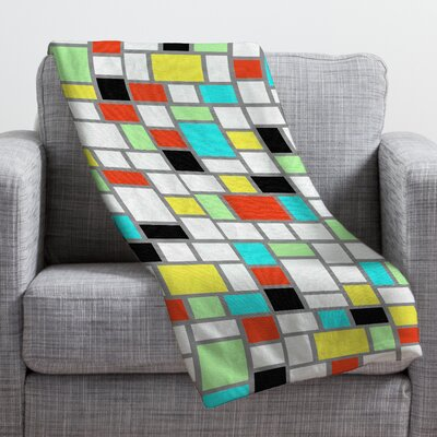 Jacqueline Maldonado Geo Square Throw Blanket Size: Small