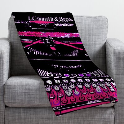 Romi Vega Antique Typewriter Throw Blanket Size: Medium