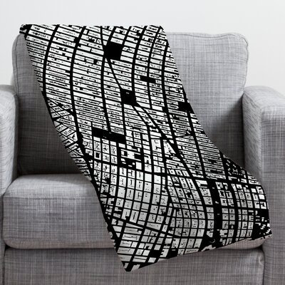 CityFabric Inc NYC Throw Blanket Size: Large, Color: Black