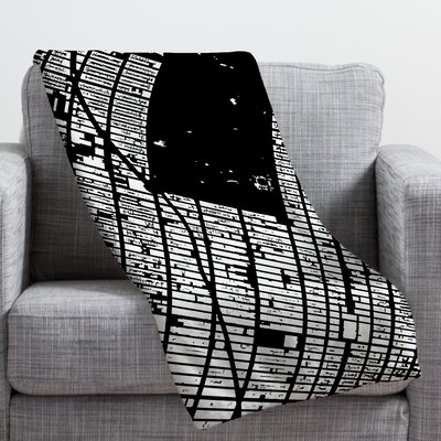 CityFabric Inc NYC Midtown Throw Blanket Color: Black, Size: 40 H x 30 W