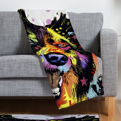 Dean Russo Border Collie Throw Blanket Size: Small