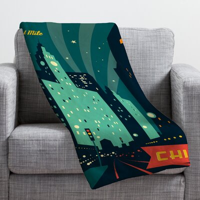 Anderson Design Group Chicago Mag Mile Throw Blanket Size: 60 H x 50 W