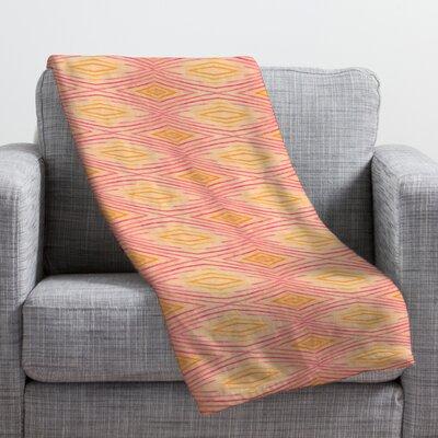Cori Dantini Orange Ikat 4 Throw Blanket Size: 60 H x 50 W