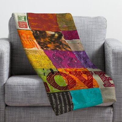 Elizabeth St Hilaire Nelson Love Throw Blanket Size: 80 H x 60 W