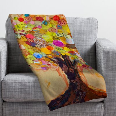 Elizabeth St Hilaire Nelson Summer Tree Throw Blanket Size: 80 H x 60 W
