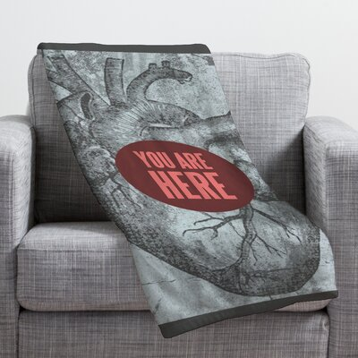 Wesley Bird You Are Here Throw Blanket Size: Medium