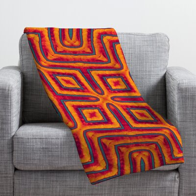 Wagner Campelo Sanchezia X Throw Blanket Size: Large