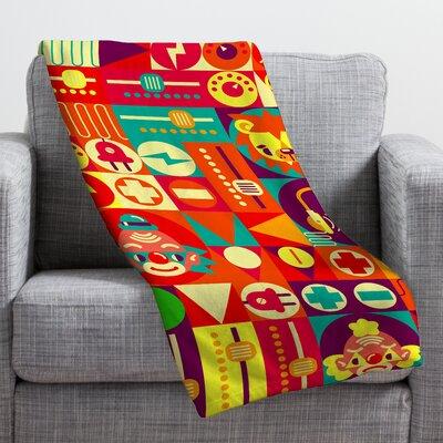 Chobopop Elecro Circus Throw Blanket Size: 60 H x 50 W