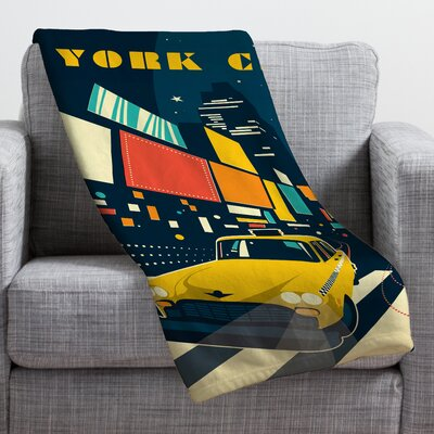 Anderson Design Group NYC Times Square Throw Blanket Size: 40 H x 30 W