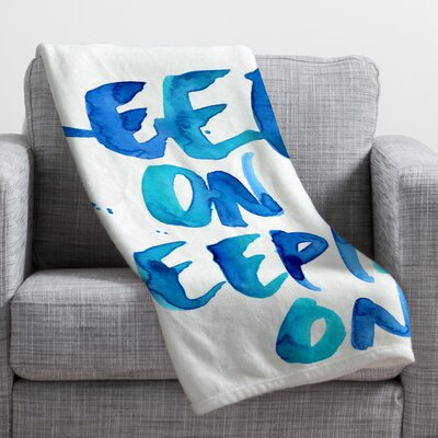 CMYKaren Keep on Keepin On Throw Blanket Size: 60 H x 50 W