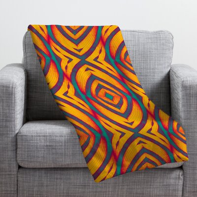 Wagner Campelo Maranta Throw Blanket Color: Yellow Maranta, Size: Medium