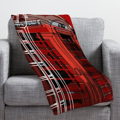 Aimee St Hill Phone Box Throw Blanket Size: 80 H x 60 W