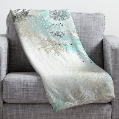 Iveta Abolina Seafoam Throw Blanket Size: Medium