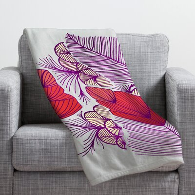 Gabi Sea Leaves Throw Blanket Size: 40 H x 30 W