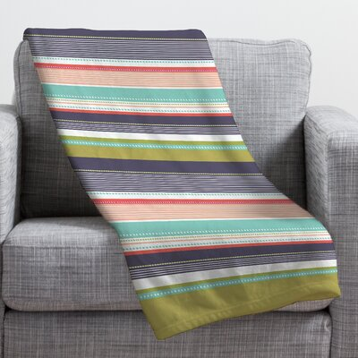 Wendy Kendall Multi Stripe Throw Blanket Size: Medium