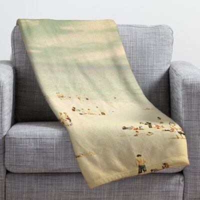 Shannon Clark Vintage Beach Throw Blanket Size: Large
