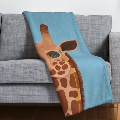 Mandy Hazell Gentleman Giraffe Throw Blanket Size: Large