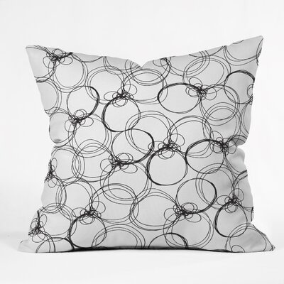 Rachael Taylor Circles Throw Pillow Size: 16 x 16, Color: White