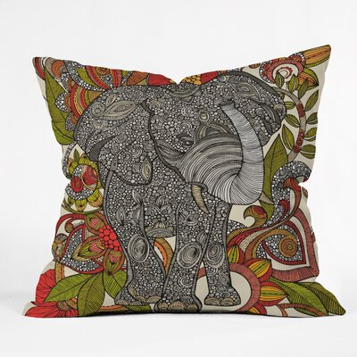 Bo The Elephant Throw Pillow Size: 18 H x 18 W