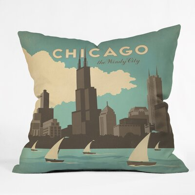 Anderson Design Group Chicago Throw Pillow Size: 18 x 18