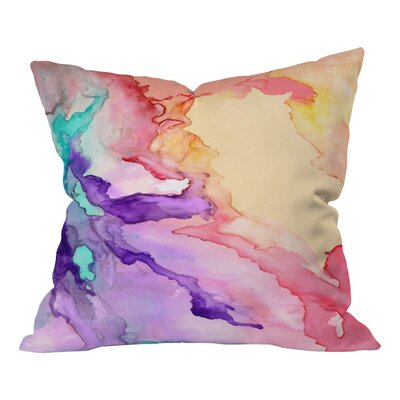 Rosie Brown My World Throw Pillow Size: Large