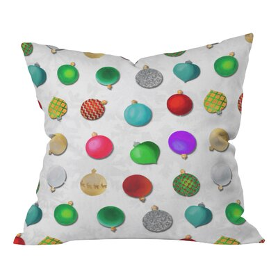Madart Inc Multi Ornaments Throw Pillow Size: 18 H x 18 W