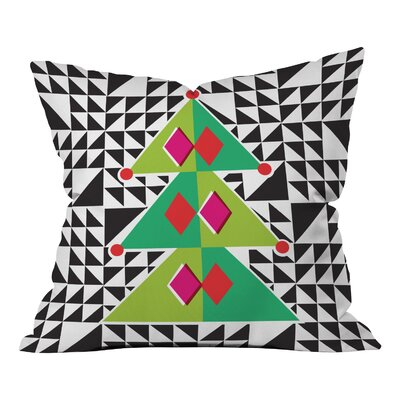 Zoe Wodarz Geo Pop Tree Throw Pillow Size: Large