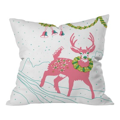 Betsy Olmsted Holiday Deer Throw Pillow Size: Large