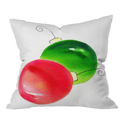 Laura Trevey Deck The Halls Throw Pillow Size: 26 H x 26 W x 7 D