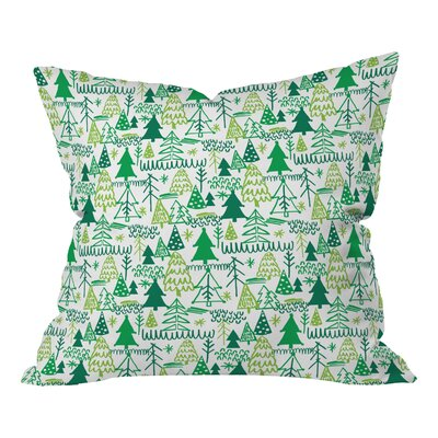 Zoe Wodarz Wonderland Forest Throw Pillow Size: Small
