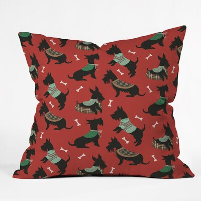 Christmas Canine Scottie Throw Pillow Size: 20 H x 20 W x 6 D