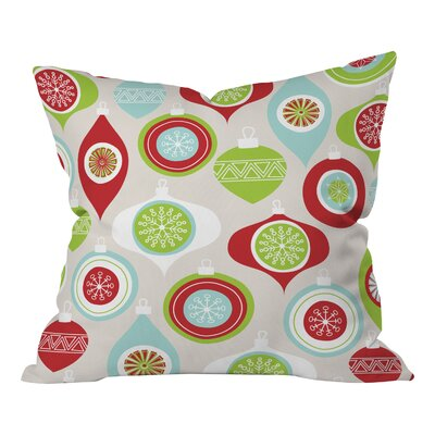 Andrea Victoria Jolly Ornaments Throw Pillow Size: Extra Large