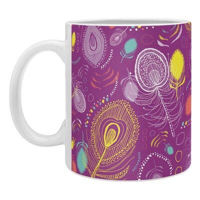 DENY Designs Rachael Taylor Electric Peacocks Coffee Mug 51020-mugsma