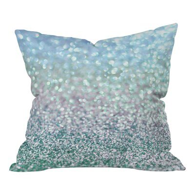 Lisa Argyropoulos Snowfall Woven Throw Pillow Size: Large, Color: Blue Mist