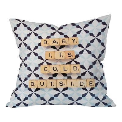 Happee Monkee Baby Its Cold Outside Throw Pillow Size: Small