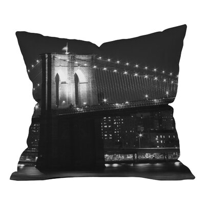 Leonidas Oxby Brooklyn Bridge 125 Throw Pillow Size: 16 x 16