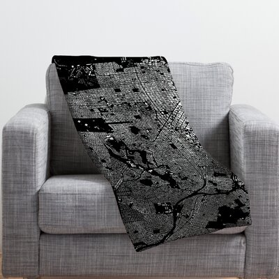 CityFabric Inc San Francisco Throw Blanket Color: Black, Size: Medium